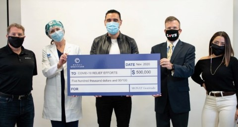 MONAT Gratitude, Inc., the philanthropic movement behind MONAT Global Corp (MONAT), raised $500,000 to provide relief to nonprofit organizations in the United States, Canada and the UK amid the COVID-19 pandemic.  (Photo: Business Wire)