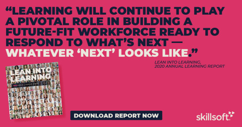 """The """"Lean into Learning: 2020 Annual Learning Report"""" depicts the role that continuous learning plays in building a future-fit workforce. (Graphic: Business Wire)"""
