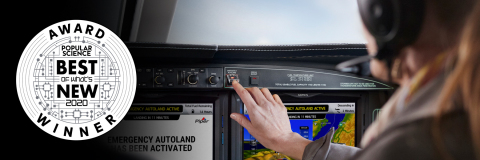 Garmin Autoland revolutionary autonomous saftey-enhancing technology was honored as one of 2020's great innovations by Popular Science in the Aerospace category. (Photo: Business Wire)
