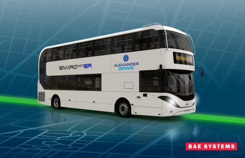 The Series-ER (Electric Range) systems will power Ireland's fleet of up to 600 Enviro400ER hybrid buses. BAE Systems has supplied systems for the first 100 buses and will supply an additional 180 systems for buses next year. (Photo: Alexander Dennis Limited)