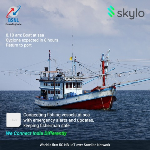 Skylo and BSNL Launch World's First Satellite-Based IoT Network in India (Photo: Business Wire)