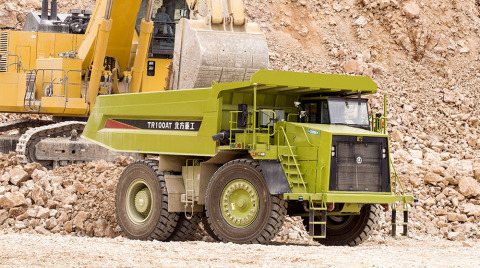 Inner Mongolia North Hauler Joint Stock Co., Ltd (NHL) NTR100A autonomous driving dump truck equipped with an Allison 8610ORS automatic transmission. (Photo: Business Wire)