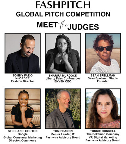 FashPitch Judges (Graphic: Business Wire)