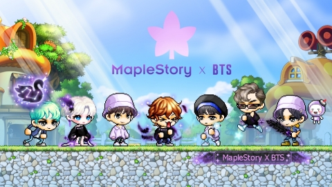 MapleStory X BTS Banner (Graphic: Business Wire)