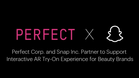 Perfect Corp. and Snap Inc. partner to support interactive AR try-on experiences for beauty brands (Graphic: Business Wire)