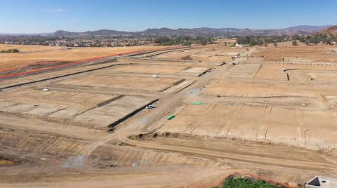 Finished single family lots at Braverde in Menifee, Calif. (Photo: Business Wire)