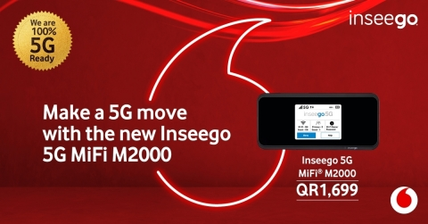 Inseego 5G MiFi M2000 for Vodafone Qatar (Graphic: Business Wire)