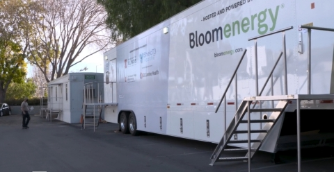 The new Shield T3 COVID-19 testing lab, powered and hosted by Bloom Energy, is open to Bay Area businesses and schools for simple, rapid and inexpensive COVID-19 testing (Photo: Business Wire)