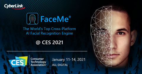 CyberLink Will Showcase New FaceMe® eKYC and Fintech Solutions at CES 2021 (Graphic: Business Wire)