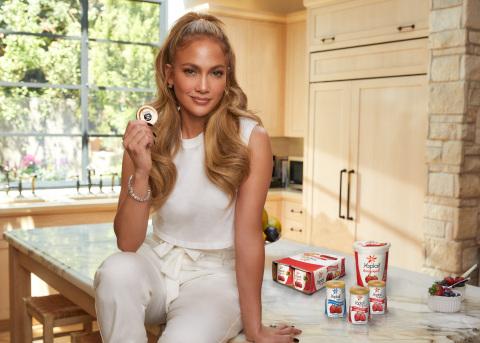 Jennifer Lopez & Yoplait® Make it Easy to Support Local Feeding America Member Food Banks. (Photo: General Mills)