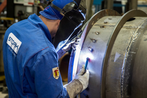 A Stork welder is shown providing services for one of the company's valued clients. (Photo: Business Wire)