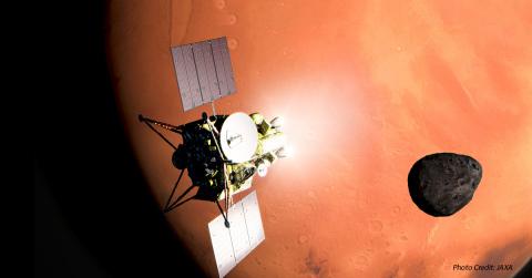 Marotta Controls to supply custom solenoid valves and fill & drain valves to Honeybee Robotics for upcoming JAXA MMX Martian Moons eXploration mission. (Photo Credit: JAXA)