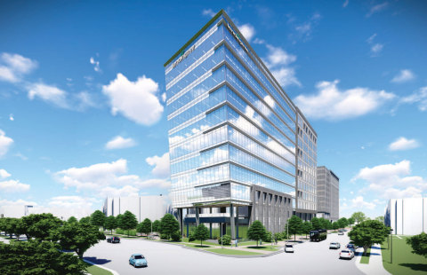 A rendering of LendingTree's new Charlotte, NC headquarters, featuring a modern, mobile-first work environment powered by Aruba ESP. Photo: LendingTree