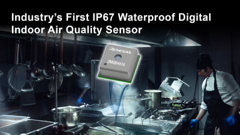 Industry's first IP67 waterproof digital indoor air quality sensor (Graphic: Business Wire)