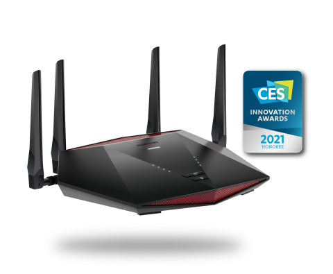 Nighthawk Pro Gaming XR1000 WiFi 6 Router leverages state-of-the-art software to optimize internet connectivity by stabilizing ping, reducing lag spikes, and keeping you in the game. (Graphic: Business Wire)