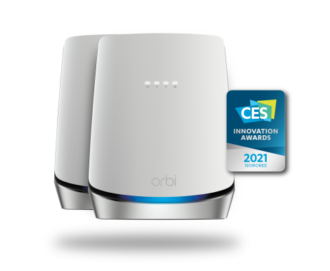 Orbi WiFi 6 DOCSIS3.1 Cable Mesh System (CBK752) is the industry's first WiFi 6 mesh system with a built-in DOCSIS 3.1 cable modem. (Graphic: Business Wire)