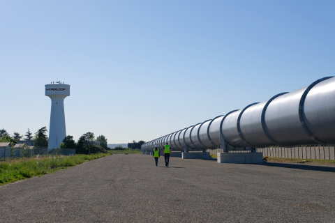 HyperloopTT's full scale hyperloop prototype in Toulouse, France (Photo: Business Wire)