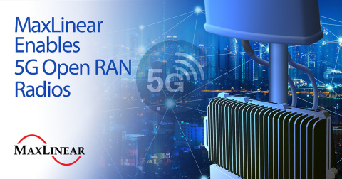 MaxLinear Transceiver Chipset Enables 5G Open RAN Radios (Graphic: Business Wire)