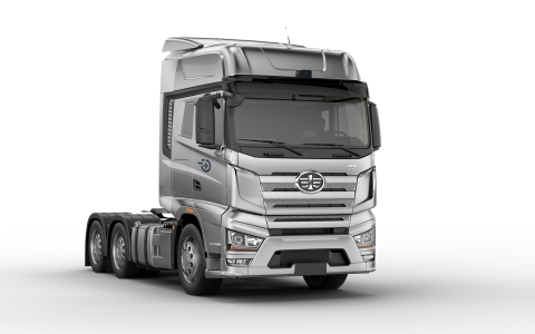 FAW J7+ trucks powered by the Plus automated trucking system (Photo: Business Wire)