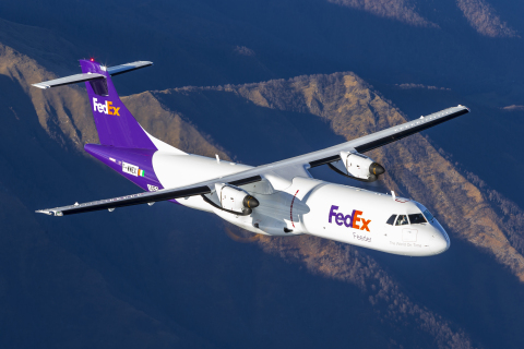 First ATR 72-600F Aircraft Delivered to FedEx Express (Photo: Business Wire)