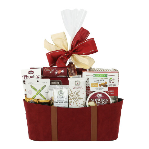 BJ's offers unbeatable value on a variety of seasonal candy and gift baskets, like the Wine Country Faux Suede Gift Basket, which are sure to make the holidays a little sweeter. (Photo: Business Wire)