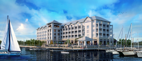 Artist rendering of the planned Hotel Indigo overlooking St. Andrews Bay in Panama City, Florida (Photo: Business Wire)