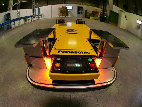 Panasonic automated guided vehicle for logistics and retail. (Photo: Business Wire)