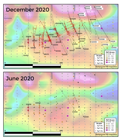 Figure 2. Progression of Ikkari drilling over last six months (Photo: Business Wire)