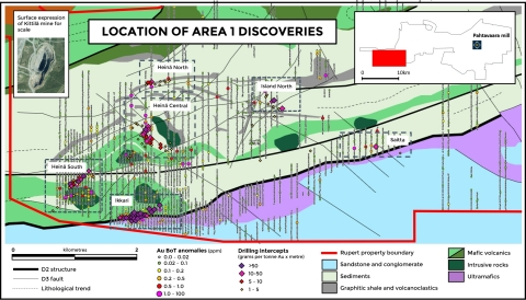 Figure 1. New discoveries and updated base of till anomalies at Area 1 (Photo: Business Wire)