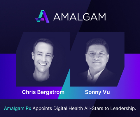 New Amalgam Rx President, Chris Bergstrom and Board of Directors member, Sonny Vu. (Photo: Business Wire)