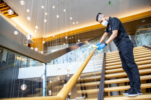 In June 2020, Hilton began a worldwide roll-out of Hilton CleanStay, a new program to deliver an industry-leading standard of cleanliness and disinfection to Hilton properties. Credit: Hilton