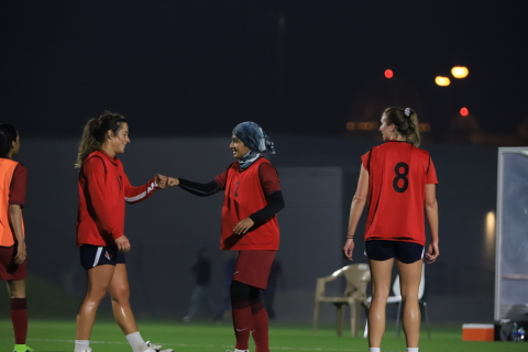Members of the Washington Spirit Women's Soccer Team played a friendly match with members of the Qatar Women's National Soccer team on Tuesday, December 15th. (Photo: Business Wire)