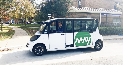 May Mobility selected Velodyne Lidar as a provider of long-range, surround view lidar sensors for its entire growing fleet of self-driving shuttles. (Photo: May Mobility)