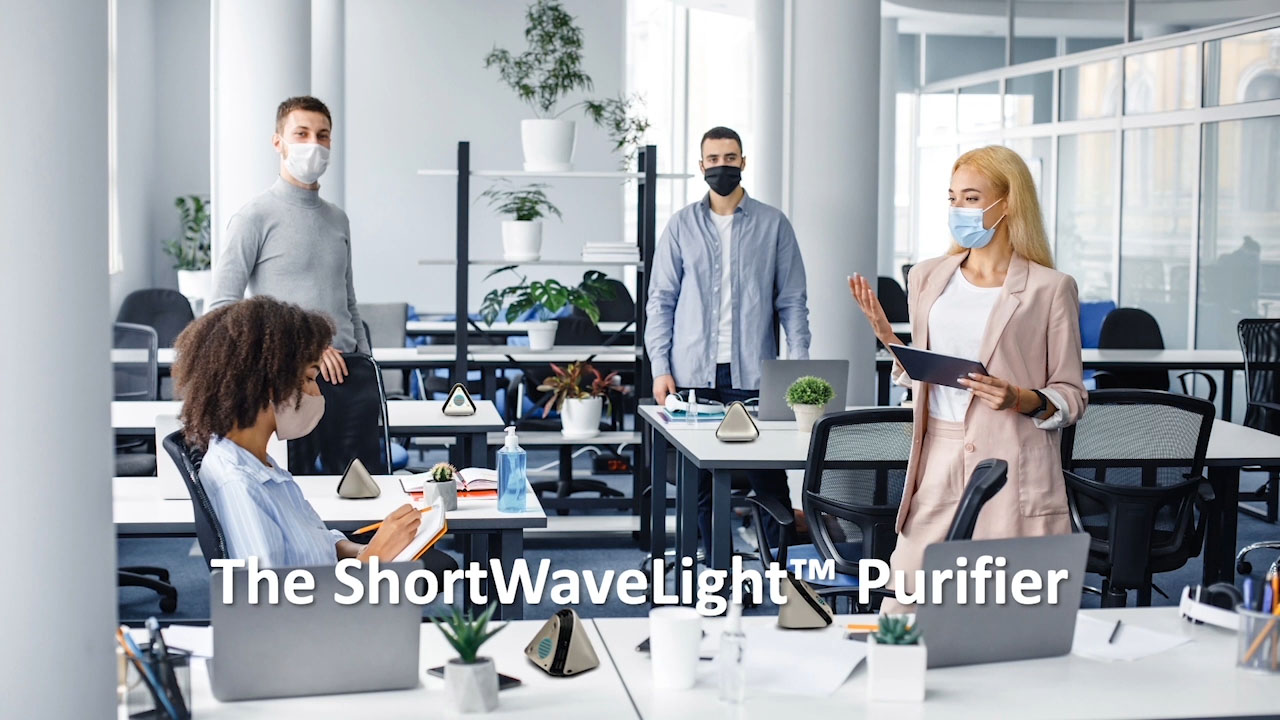 See how the ShortWaveLight™ Purifier will work, and how far-UVC light helps disinfect surfaces and air by attacking the RNA of pathogens. Powered by the unique far-UVC ShortWaveLight™ Emitter from NS Nanotech, it is available for pre-order now with a 10% deposit at ShortWaveLight.com, with delivery after production starts in the first half of 2021.