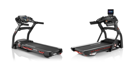 New generation of Bowflex® T7 and T10 connected treadmills integrate with the JRNY® digital fitness platform through an HD touch screen console and fold up for easy storage. (Photo: Business Wire)