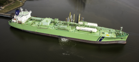 The BW Gemini VLGC is loaded with LPG at the Enterprise's EHT facility on the Houston Ship Channel. (Photo: Business Wire)