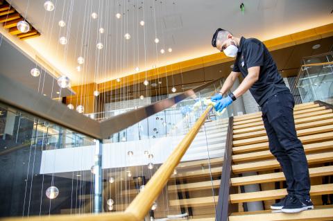 2020年6月,希爾頓開始在全球推出「希爾頓清潔無憂住」,這項新計畫旨在為希爾頓酒店帶來業界領先的清潔和消毒標準。圖片提供:希爾頓