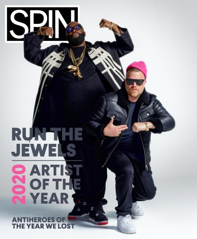 Run the Jewels super duo consisting of Brooklyn-based rapper and producer El-P and Atlanta-based rapper Killer Mike is SPIN Magazine's Artist of the Year. Previous winners include Billie Eilish, Drake, Neil Young, Sia, Smashing Pumpkins, and others. (Photo: Business Wire)