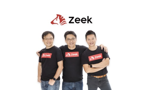 Zeek Co-founders (From Left): Cliff Tse, Chief Technology Officer, KK Chiu, Chief Executive Officer, and Vincent Fan, Chief Strategy Officer. (Photo: Business Wire)