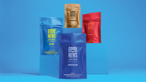 Cresco Labs' Good News brand launches in Michigan with 10 mg. gummy edibles now available to purchase at dispensaries. (Photo: Business Wire)