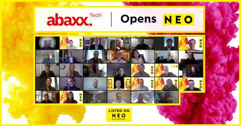 Abaxx Technology Corp. Ltd. (NEO : ABXX), une fintech en phase de développement et une bourse mondiale de marchandises, participe à un marché numérique ouvert pour célébrer son introduction aujourd'hui à la NEO Bourse. Abaxx est désormais disponible à la négociation sous le symbole NEO : ABXX. (Photo : Business Wire)