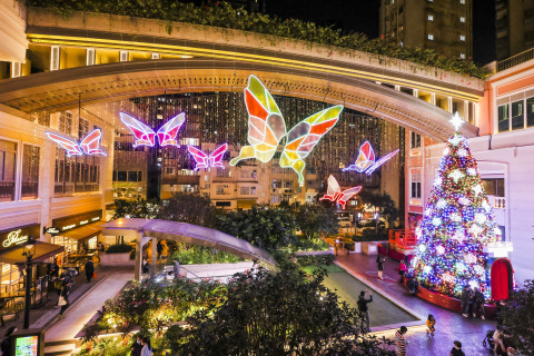 """The world's first """"AI Butterflies Illuminating Interactive Art"""" at Lee Tung Avenue (Photo: Business Wire)"""