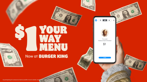 CHECK YOUR VENMO. BURGER KING® IS MAKING IT RAIN (Photo: Business Wire)