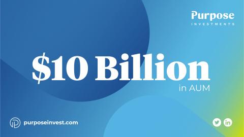 Purpose Investments Surpasses $10 Billion AUM (Photo: Business Wire)