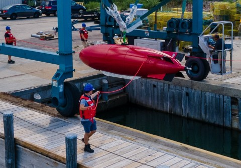 Dive Technologies Commercial Large Displacement UUV - Sea Test (Photo: Dive Technologies)