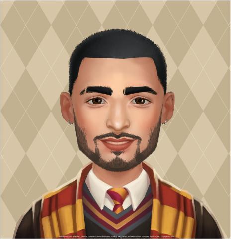 Певец Зейн Малик показывает фирменный стиль игры своим особенным аватаром и передаёт послание фанатам Harry Potter: Puzzles & Spells (Графика: Business Wire)