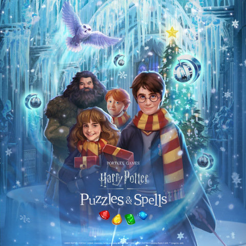 Harry Potter: Puzzles & Spells Welcomes Winter Holidays with Christmas-themed Collection Event, New Magical Creature and Social Surprises Throughout December (Graphic: Business Wire)