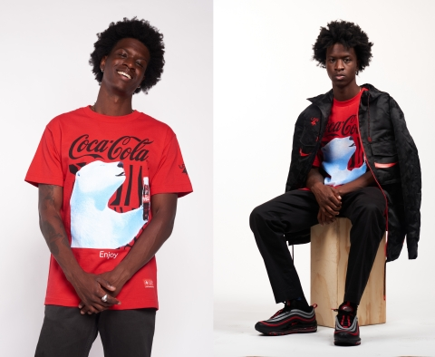 During this time of year, the red and white classic COCA-COLA logo and happy polar bears make people smile in the more than 200 countries where COCA-COLA is served. THE LRG FOR COCA-COLA COLLECTION features the brand's classic red, and of course the polar bears make an appearance. (Photo: Business Wire)