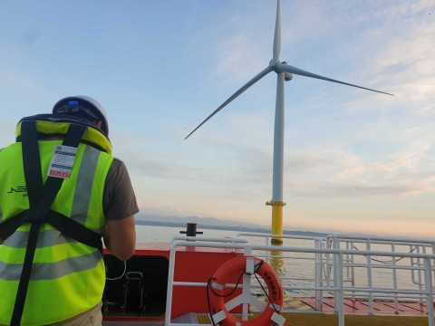 Offshore Wind Turbine Blade Inspection with Siemens Gamesa RE and Formosa I Wind Power Ltd. (Photo: Business Wire)