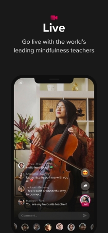 The Wong Janice performs cello journeys for meditation, relaxation and sleep on Insight Live. (Graphic: Insight Timer)